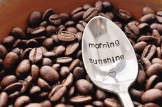 Morning sunshine - hand stamped vintage silverware <3...love to find that spoon every morning..
