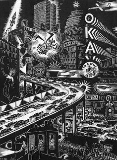Xilografia de Frans Masereel, 1965