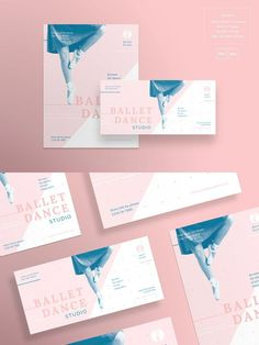 Easy to use and customize, with modern design – universal and Flyer Design Inspiration, Brochure Inspiration, Lettering Design, Branding Design, Brochure Design Layouts, Dance Logo, Ballet Posters, Name Card Design, Dance Studio