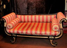 Antique English Regency Neo Classical Settee Chaise Circa 1815 | eBay