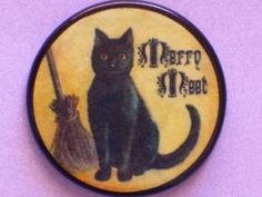 Vintage BLACK Kitty CAT Talisman Amulet by EclecticEnchantments