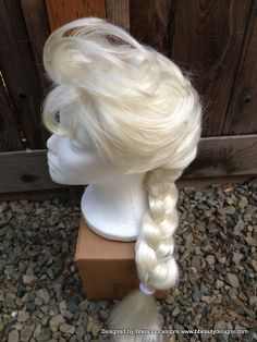Elsa Frozen Princess Wig Screen Quality Custom by Bbeauty79, $129.95 - inspiration for making my own wig - Elsa from Frozen cosplay