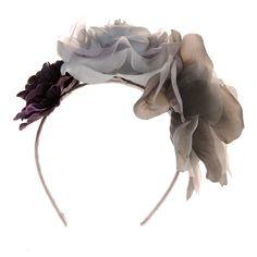 Bria Grey Floral Headband