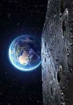 Universum Wallpaper Earth, Planets Wallpaper, Wallpaper Space, Galaxy Wallpaper, Wallpaper Wallpapers, Earth And Space, Planet Earth From Space, Earth From Moon, Earth 2