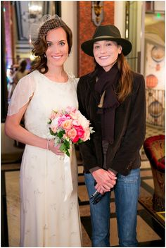 Carla Bruni Sarkozy with bride | © One and Only Paris Photography via French Wedding Style