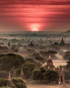"2,527 Likes, 42 Comments - Exploring Globe (@exploringglobe) on Instagram: ""Beautiful Bagan, #Myanmar Photo by @dubsonata #exploringglobe . . . #travelwriter #travel…"""
