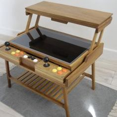 Retro arcade game coffee table made by one of our members Great for