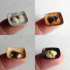 Miniature japanese rice cakes
