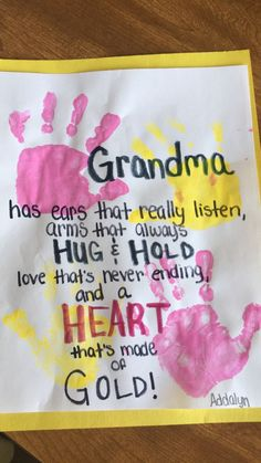 Mothers Day crafts for grandma!