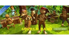 7 Educational Apps for First Graders- Gorilla Band