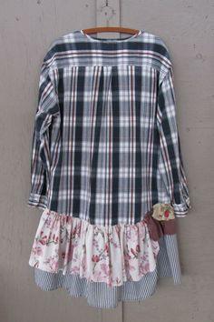 Romantc Mens Plaid Pattern Square Collor Short-Sleeve Cardigan Shirt