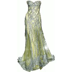 My images: Standard ❤ liked on Polyvore featuring dresses, gowns, long dresses, vestidos, green ball gown, green gown, long green evening dress, green evening gown and long green dress