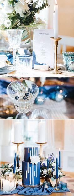 Es gibt unendliche Möglichkeiten den Hochzeitstisch zu dekorieren. Gerade bei klassisch eleganten Hochzeiten dürfen klare Linien und metallische Elemente mit aufgelockerten Blumenbouquet kombiniert werden. Entdeckt hier mehr.