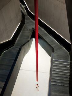 Equilibrium© by Roberto Mugnaioli Inside the MAXXI museum, in Rome