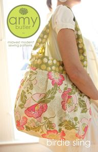 PatternPile.com - Hundreds of Patterns for Making Handbags, Totes, Purses, Backpacks, Clutches, and more. | The Birdie Sling Bag – PDF Sewing Pattern | http://patternpile.com/sewing-patterns