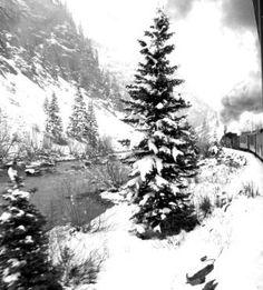 winter, durango silverton train stop
