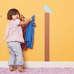 Cute coat rack idea for a child's room