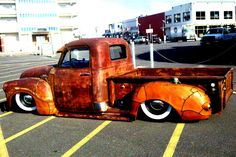 Slammed Chev Pick-up  Leather bound