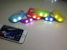 lashing LED bangle bracelets 3000 crowdfunding