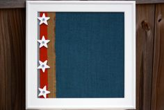 AllAmerican Boy Magnetic Board 16x16 by BurlapandLaceBoards, $60.00