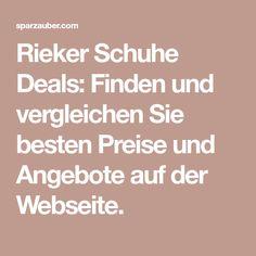 Rieker Schuhe Deals: Finden und vergleichen Sie besten Preise und Angebote auf der Webseite.