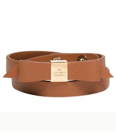 Kate Spade New York 'Wrap Things Up' Leather Bow Wrap Bracelet | This season, give the people on your list presents that have their names written all over them. (Literally.) See more great gifts for everyone on your list.
