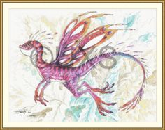 "Dragon cross stitch pattern - modern counted cross stitch chart - Licensed Artisan - ""Pixie Dragon"" by UnconventionalX on Etsy Modern Cross Stitch Patterns, Cross Stitch Designs, Modern Patterns, Dragon Cross Stitch, Unique Symbols, Pdf Patterns, Overlays, Pixie, Original Artwork"