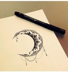 Moon mandala tat