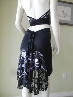 Argentinian Tango & Salsa Skirt with Lace 2 and by COCOsDANCEWEAR