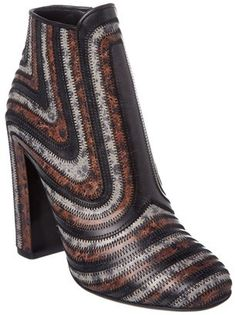 Salvatore Ferragamo Feeling Zig Zag Stamped Calfskin Leather Bootie. Bootie fashions. I'm an affiliate marketer. When you click on a link or buy from the retailer, I earn a commission.