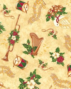 12 Days of Christmas - Musical Holiday - Almond/Gold