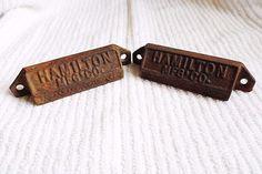 Vintage Pair Of Cast Iron Hamilton MFG. Drawer Bin Handle Pulls Hardware!      Antiques, Architectural & Garden, Hardware   eBay!