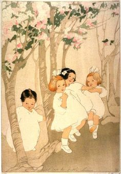 Cherry Blossoms - Bertha Lum (don't like the asian feel to the trees and colors, but the children are darling!)