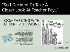 So I Decided To Take A Closer Look At Teacher Pay