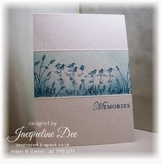 SU Wetlands and Loving Thoughts stamp sets, Naturals White cardstock, Soft Sky and Midnight Muse ink Wetlands Stampin Up, Cards For Friends, Friend Cards, Nautical Cards, Bird Cards, Stamping Up Cards, Fathers Day Cards, Masculine Cards, Sympathy Cards