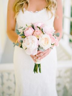Pastel Pink Peony Summer Bouquet