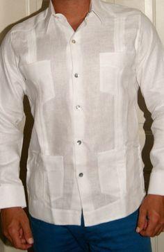 Mens Beach Wedding Attire, Mens Shirt Pattern, African Shirts For Men, Guayabera Shirt, Plain White Shirt, Mexican Shirts, Custom Made Clothing, Wedding Shirts, Cocktail Attire