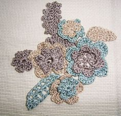 the group (of motifs) used to make the sweater, by am tm mitsuko found on flickr   free form crochet