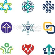 Vector Art : Future innovation technology computer  integrated chip nanotechnology science logo icons