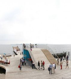 Harbour Bath pavilion and viewing station at the inner-city waterfront of Faaborg, Denmark. Click image for link to full profile and visit the slowottawa.ca boards >> https://www.pinterest.com/slowottawa/boards/