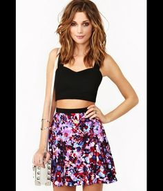 If I had that toned of tummy, I might try this look too. Fashion Flashback: MIdriff Looks