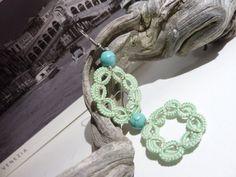 Handmade Earrings Venice Tatted Earrings in door MJsflowerfield #crochet #crocheting #ideas #etsy #team #treasury #handmade #etsyseller