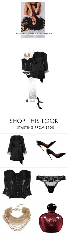 """""""Your skin is like the gallows map to gold"""" by flowy ❤ liked on Polyvore featuring Christian Louboutin, Rosamosario, Lanvin, Christian Dior and Allurez"""