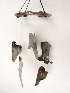 A personal favorite from my Etsy shop https://www.etsy.com/listing/228503127/upcycled-horse-shoe-wind-chime-with