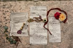 Intimate, hand written stationery suite on a smokey deckled edged paper Destination Wedding Invitations, Wedding Invitation Suite, Invitation Ideas, Calligraphy Wedding Stationery, Wedding Envelopes, Hand Designs, Event Design, Wedding Anniversary, Your Cards