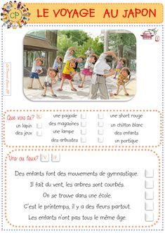 Le voyage au japon - La domrod classe CP Image Japon, France, School Life, Tokyo, Cycle 2, Activities, Geo, Cards, Yoga
