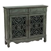"""Overall: 36"""" H x 41"""" W x 11"""" D $340 Found it at Wayfair - Classic Charmer 2 Drawer 2 Door Cabinet"""