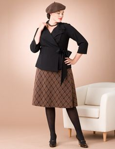 New plus size look of fall 2012
