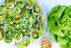 Mango Mint Summer Rolls (One of my all time favorites right here) — earthyandy Grilled Vegetable Skewers, Rice Paper Rolls, Thai Coconut, Coconut Sauce, Unsweetened Coconut Milk, Summer Rolls, Plant Based Recipes, Fresh Rolls, Easy Meals
