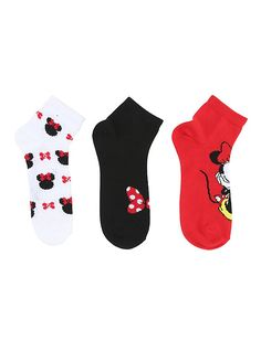 Disney Minnie Mouse Ankle Socks 3 Pair,